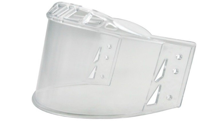 hockey helmet visor made of polycarbonate