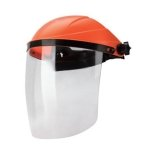 Safety Face Shield clear and red