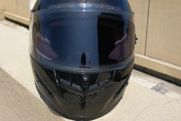 Photochromic motorcycle visor