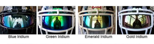 Iridium football helmet visors