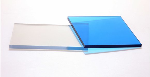 Solid polycarbonate sheets for football visor