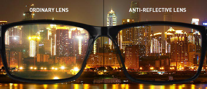 Comparing two surfaces with and without anti-reflective coating