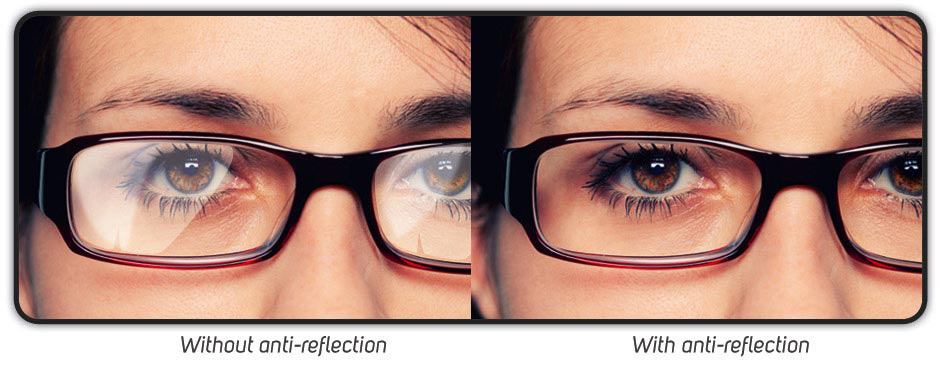 compare with and without anti glare coating