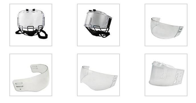 Different designs of WeeTect Helmet Visors