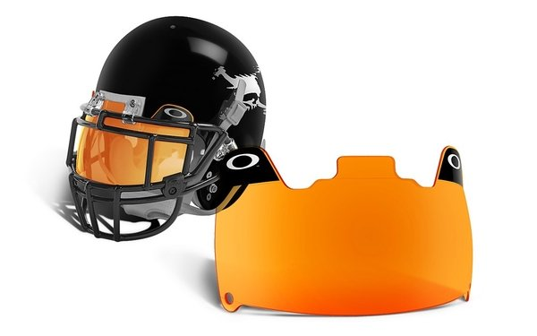 Football visor with abrasion resistant coating