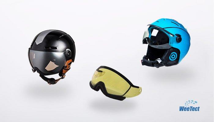 Ski helmet visor