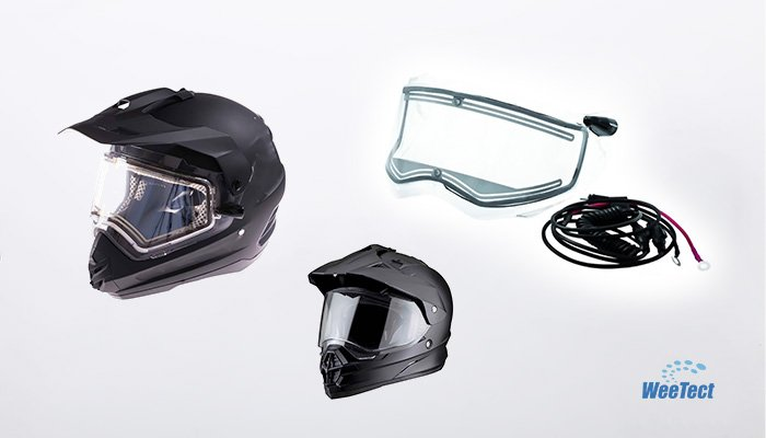 Snowmobile Helmet Heated Shield