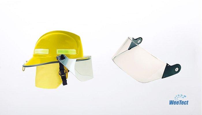Fire helmet face shields