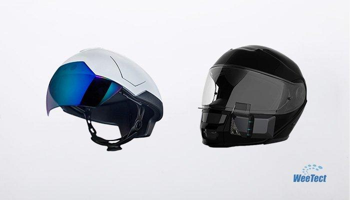 Helmet visor with AR technology
