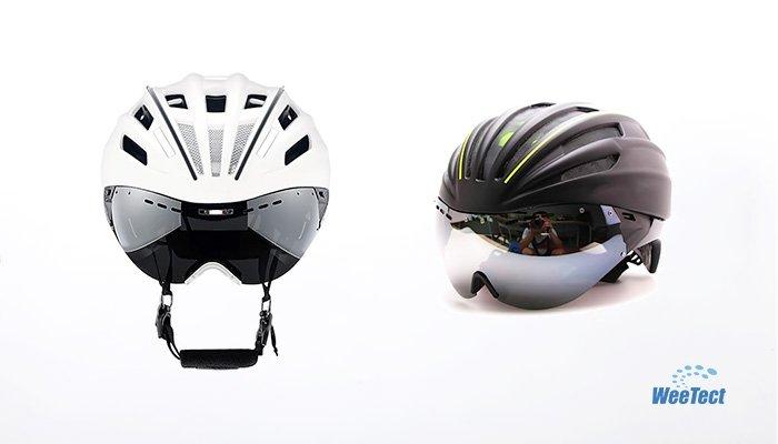 Bike helmet visor with ventilation