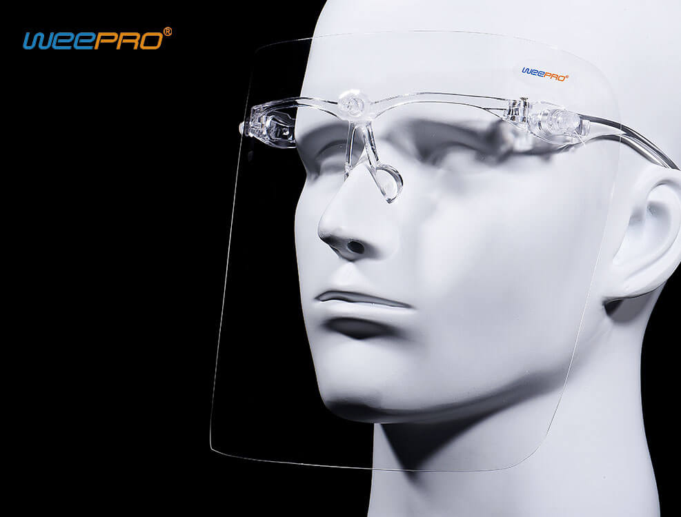 glasses frame medical face shield